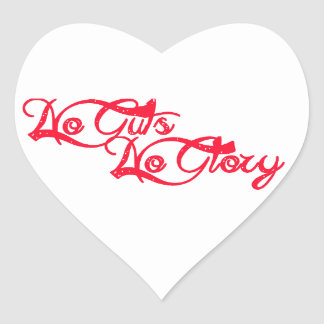 No Guts, No Glory Heart Sticker