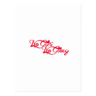 No Guts, No Glory Postcard