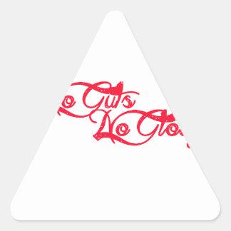 No Guts, No Glory Triangle Sticker