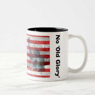 No Guts, No 'Old Glory' Two-Tone Coffee Mug