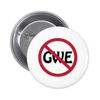 No GWE Pinback Button