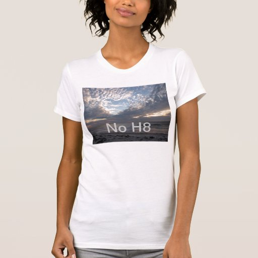 No H8 hate Heart In The Clouds Tee Shirts