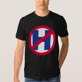 NO H - NO HILLARY - blue - - Anti-Hillary - T-Shirt