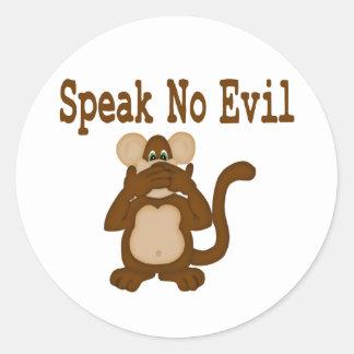No hable a ningún pegatina malvado