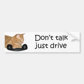 No hable apenas la impulsión pegatina para auto