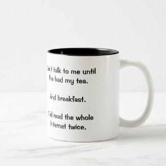 """""""No hable conmigo"""" la taza"""