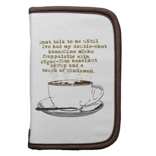 No hable el café de la necesidad planificadores
