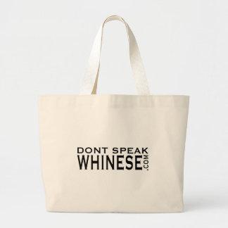 No hable el tote de Whinese Bolsa