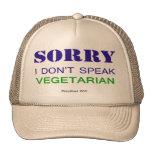 No hablo al vegetariano v2 gorras de camionero