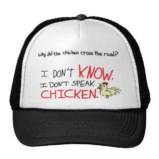 No hablo el pollo gorro