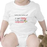 No hablo el pollo traje de bebé