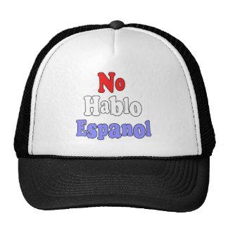 No hablo Espanol Mesh Hats