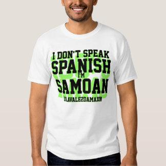 No hablo español playera