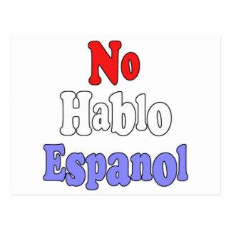 No hablo Espanol Postcard