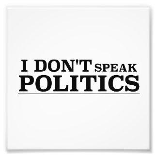 No hablo política cojinete