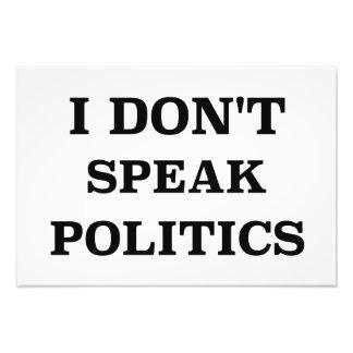 No hablo política fotografías