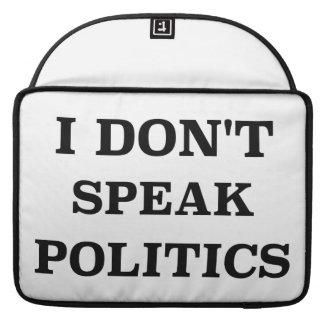 No hablo política funda macbook pro