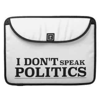 No hablo política fundas para macbooks