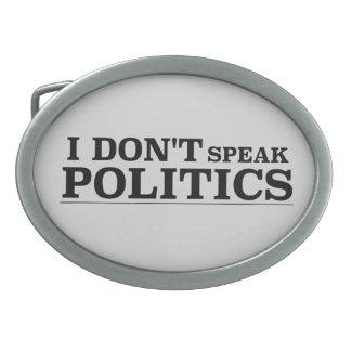 No hablo política hebilla de cinturon oval