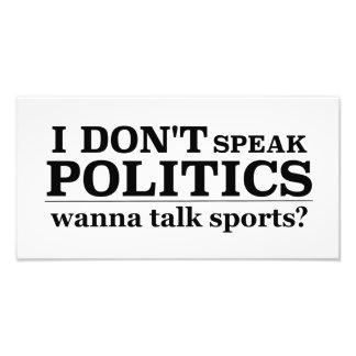 No hablo política quiero hablar deportes cojinete