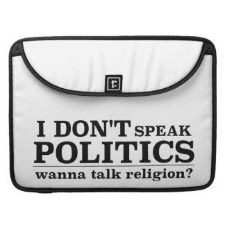 No hablo política quiero hablar la religión fundas macbook pro