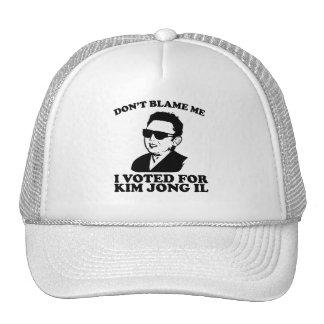 No hace Blam yo yo votó por el gorra de Kim Jong