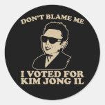No hace Blam yo, yo votó por el pegatina de Kim