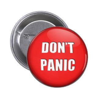 No hace el botón de pánico pin redondo de 2 pulgadas