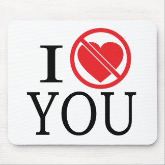 No hace el corazón usted mouse pads