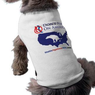 No hace el impulso en las camisetas sin mangas del playera sin mangas para perro