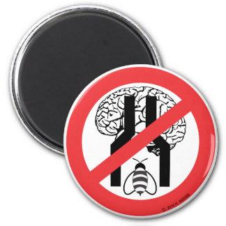 No hace el negro cerebrado estrecho WH. del RD de Iman Para Frigorífico