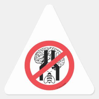 No hace el negro cerebrado estrecho WH. del RD de Pegatina Triangular