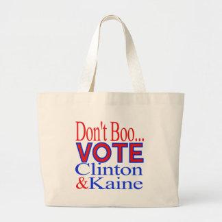 ¡No hace el voto del abucheo…! Clinton y Kaine Bolsa Tela Grande