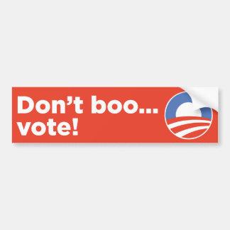 ¡No hace el voto del abucheo…! Pegatina Para Auto