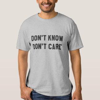No hace Know no cuida la camiseta gris Camisas