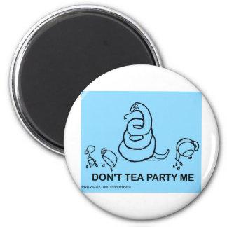 No hace la fiesta del té yo - azul imanes de nevera