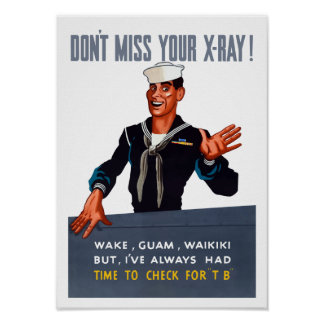 No hace Srta. Your X-ray -- WW2 Póster