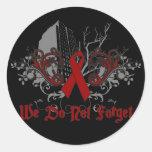 No hacemos conciencia de los Olvidar-SIDA Pegatinas