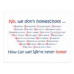 No hacemos Homeschool Postal
