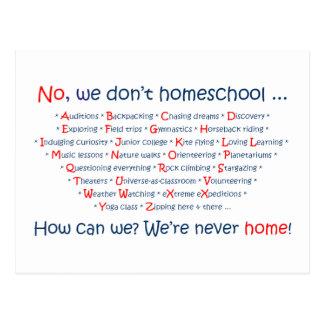 No hacemos Homeschool Tarjetas Postales