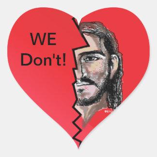 ¡No hacemos! Pegatina cristiano