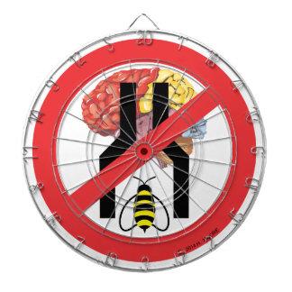 No hacen cerebrados estrechos de la abeja tabla dardos