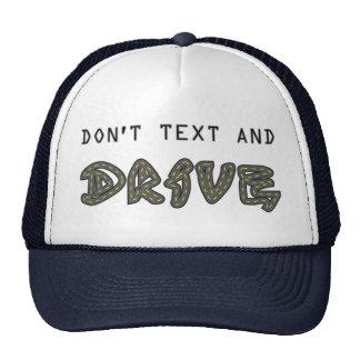No hacen el texto y el gorra de la impulsión