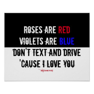 No hacen el texto y la impulsión: Te amo poema: Póster