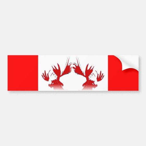 No hacen los alces conmigo, yo son canadienses pegatina para auto