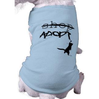 """""""No haga compras - ADOPTE """" Camiseta Sin Mangas Para Perro"""