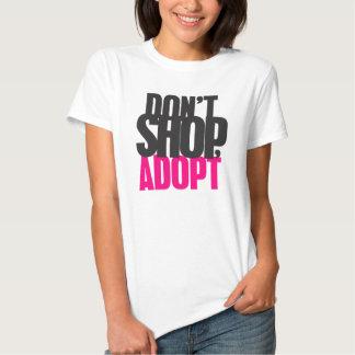No haga compras, no adopte camisas
