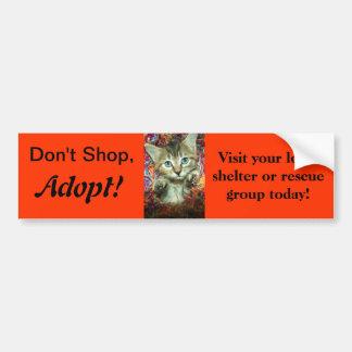 ¡No haga compras, no adopte! Pegatina para el para Pegatina Para Auto