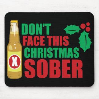 No haga frente este al navidad sobrio tapete de raton
