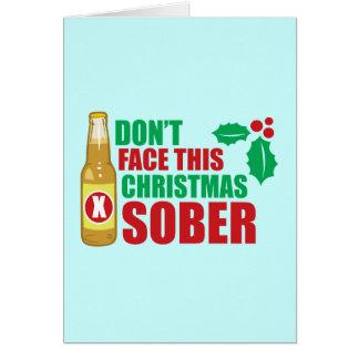 No haga frente este al navidad sobrio tarjeta de felicitación